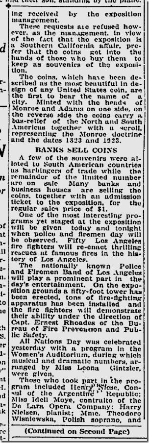 July 23, 1923, Monroe Half Dollars