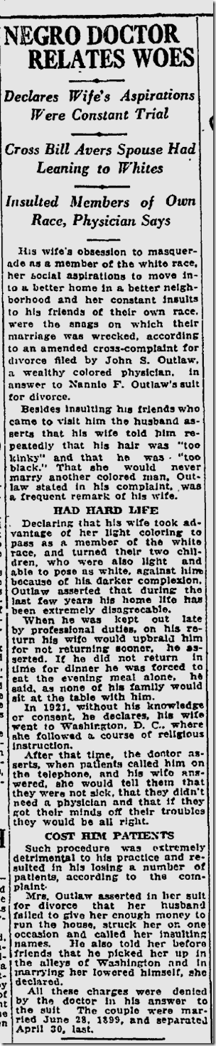 July 23, 1923, Divorce Case