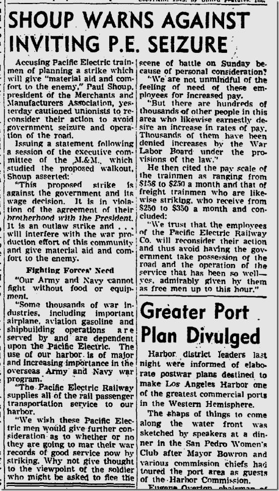 July 24, 1943, Streetcar STrike