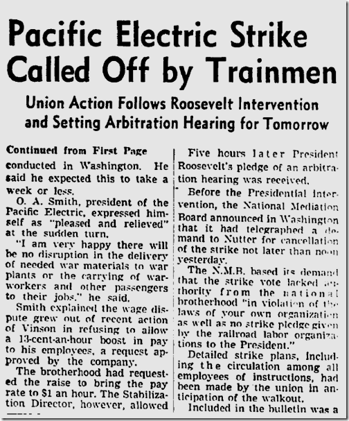 July 25, 1943, Streetcar Strike