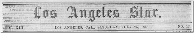 July 25, 1863, Los Angeles Star