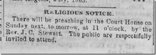 July 25, 1863, Preaching at the Courthouse