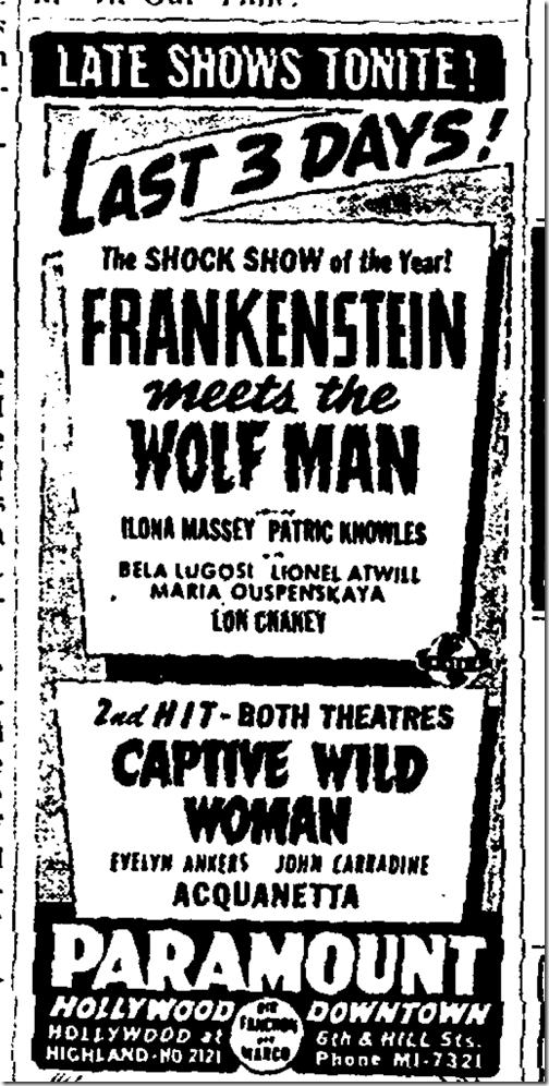 July 31, 1943, Movies