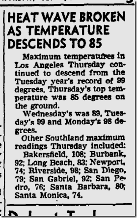 July 31, 1943, Heat Wave