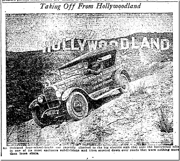 Jan. 6, 1924, Hollywoodland Sign