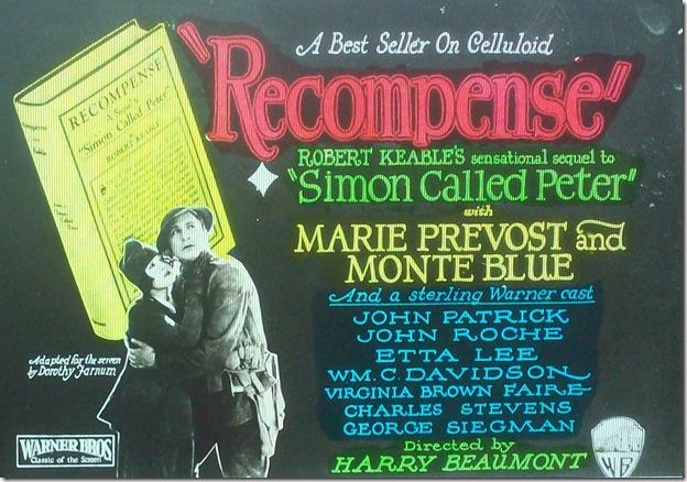 """Marie Prevost """"Recompense"""""""
