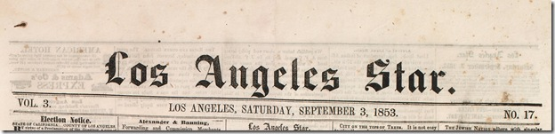 Los Angeles Star, Sept. 3, 1853
