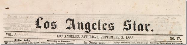 Los Angeles Star, Sept. 3, 1853