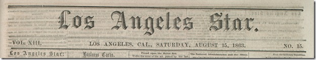 Aug. 15, 2863, Los Angeles Star