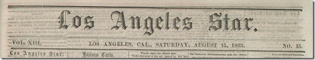 Aug. 15, 2863, Los Angeles Star