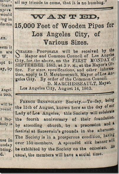 Aug. 15, 1863, Wooden Pipe