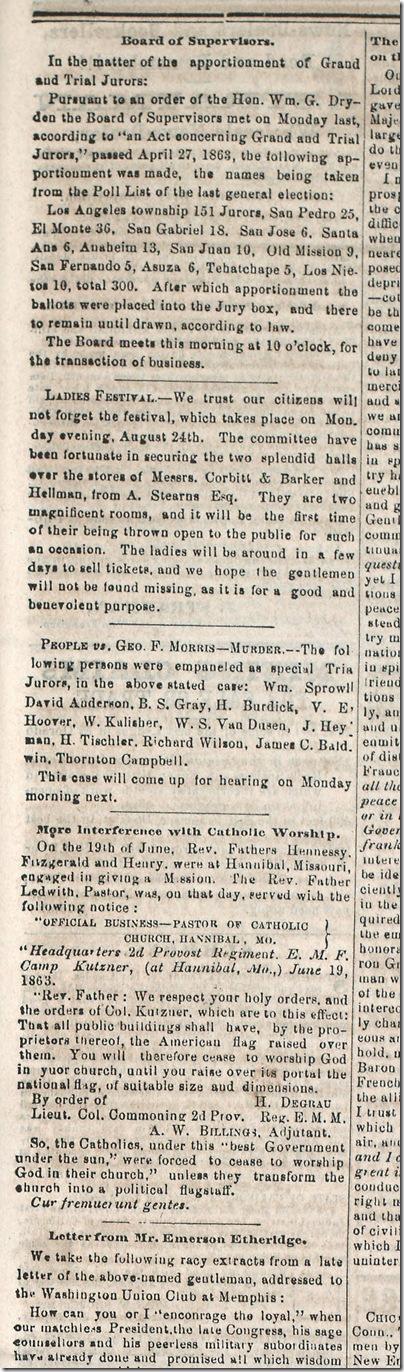 Aug. 15, 1863, Murder