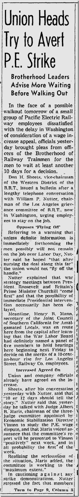 Sept. 5, 1943, Streetcar Strike