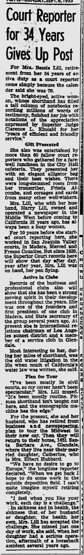 Sept. 6, 1953, Court Reporter