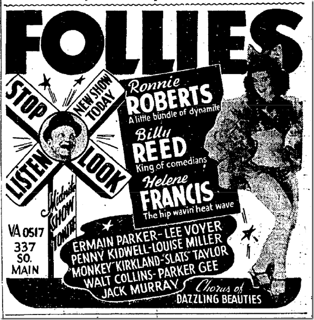 Sept. 11, 1943, Follies