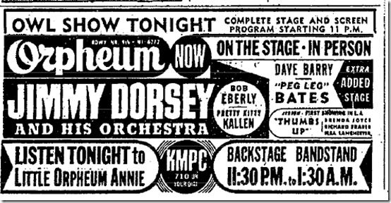 Setp. 11, 1943, Jimmy Dorsey