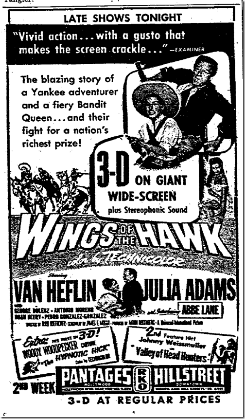 Sept. 12, 1953, Wings of the Hawk