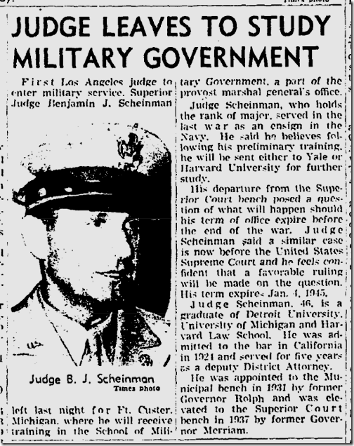 Aug. 21, 1943, Judge Joins Army