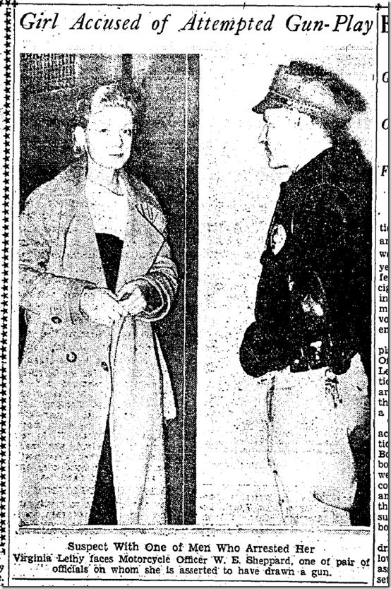 Sept. 18, 1933, Blond Arrested