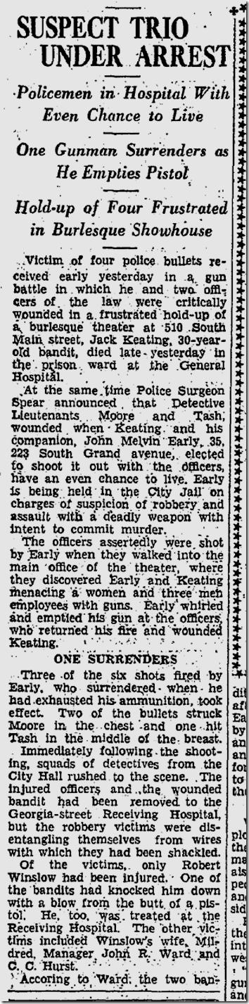 Sept. 18, 1933, Burlesque House Shootout