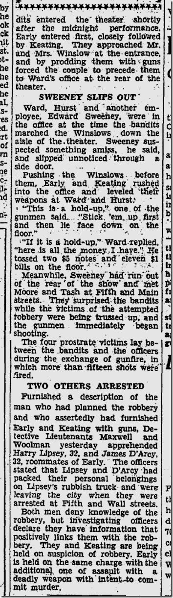 Sept. 18, 1933, Burlesque Theater Shootout