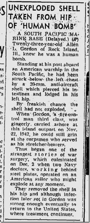 Sept. 19, 1943, Human Bomb