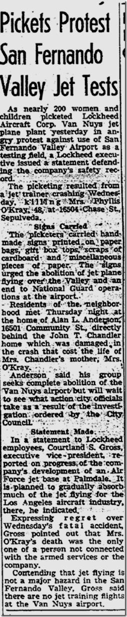 Sept. 12, 1953, Lockheed Protest