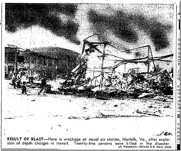 Sept. 19, 1943, Explosion