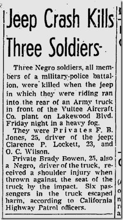 Sept. 19, 1943, Jeep Crash
