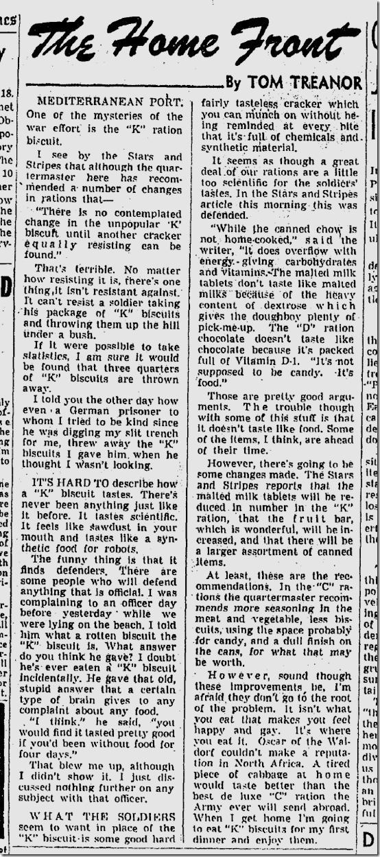 Sept. 19, 1943, Tom Treanor