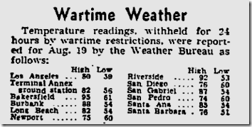 Aug. 21, 1943, Wartime Weather