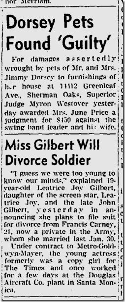 Aug. 21, 1943, Dorsey Pets