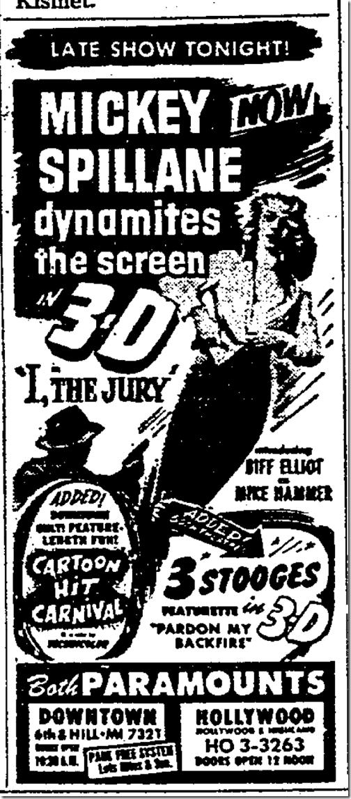 Aug. 22, 1953, I the Jury