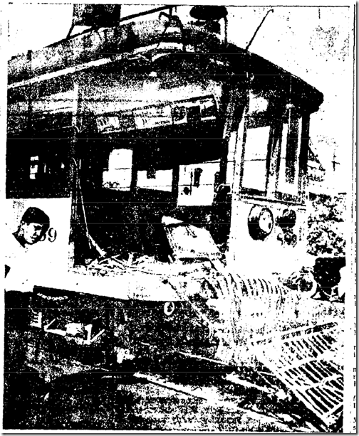 Aug. 15, 1943, Streetcar Accident