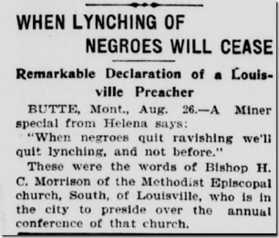 Aug. 27, 1903, Lynching