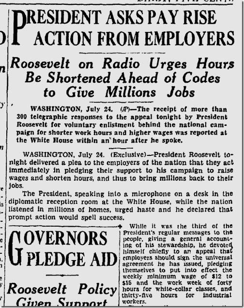 July 25, 1933, N.R.A.