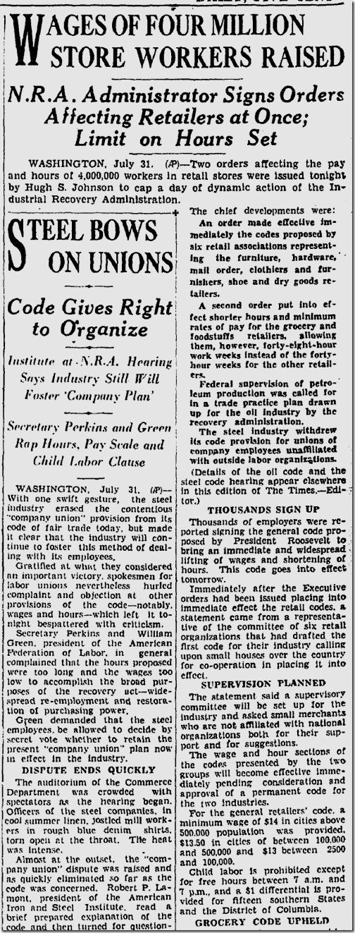 Aug. 1, 1933, N.R.A.