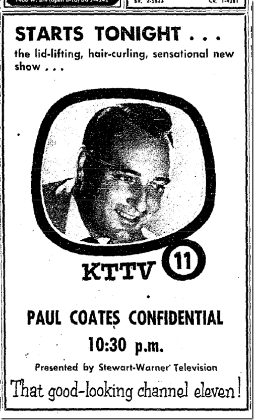 Aug. 30, 1953, Paul Coates