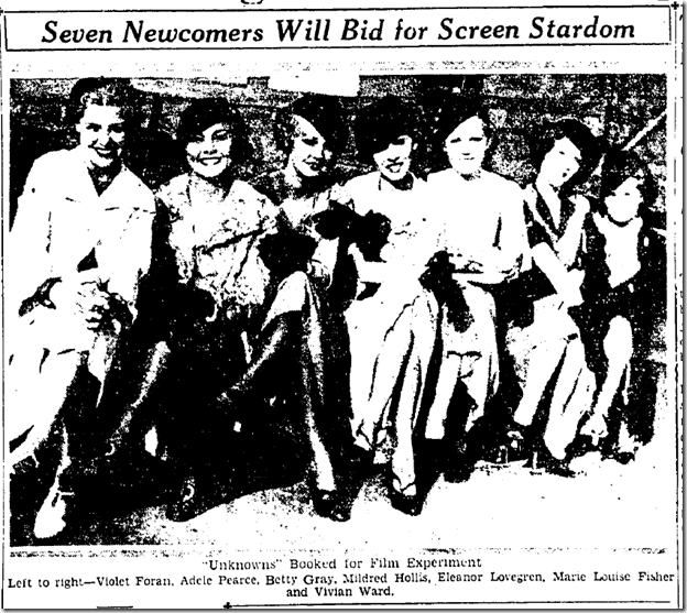 Sept. 4, 1933, Screen Beauties