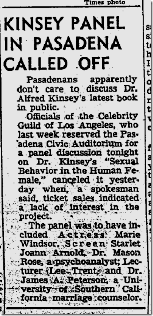 Sept. 12, 1953, Kinsey Panel