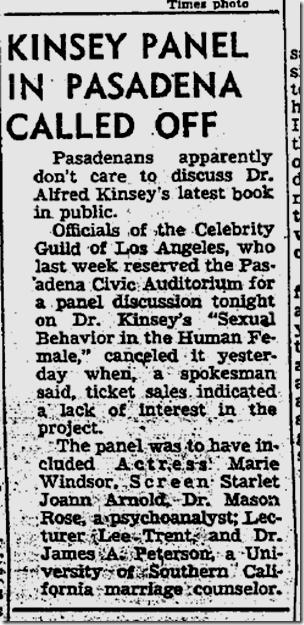 Sept. 12, 1953, Kinsey Panel