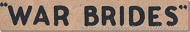 War Brides Herald