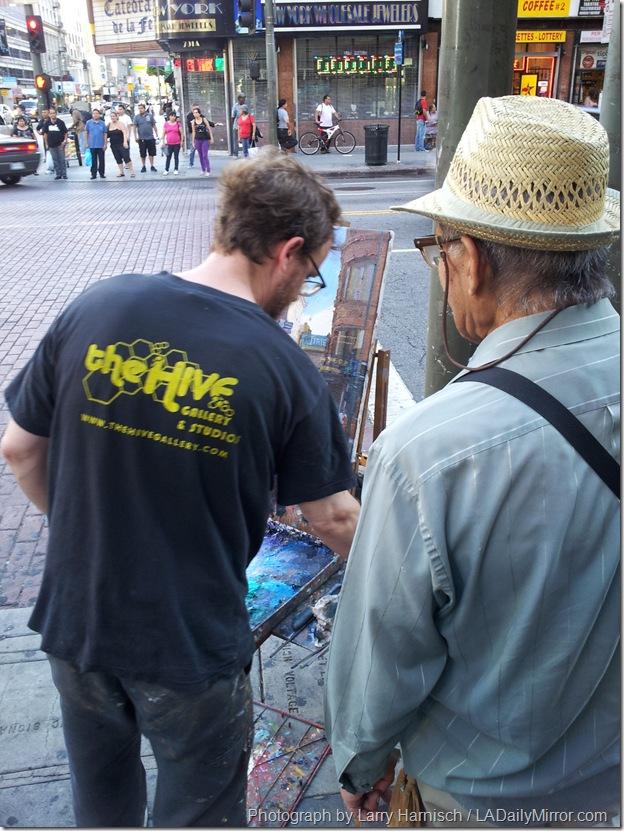 Sept. 3, 2013, Sidewalk Artist