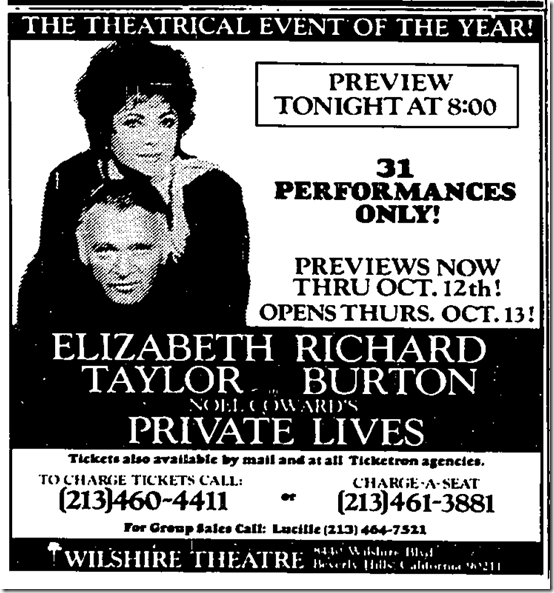 Oct. 11, 1983, Private Lives