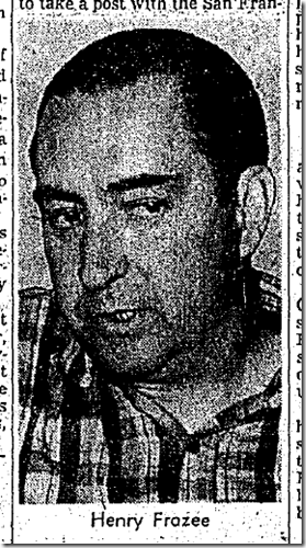 Sept. 19, 1932, Henry Frazee