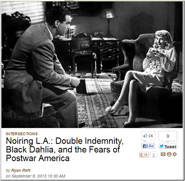 """Double Indemnity"" ""Black Dahlia"""