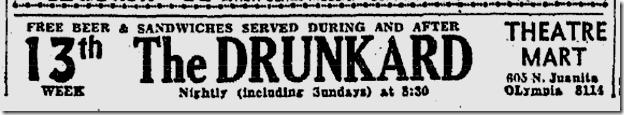 Sept. 33, 1933, The Drunkard