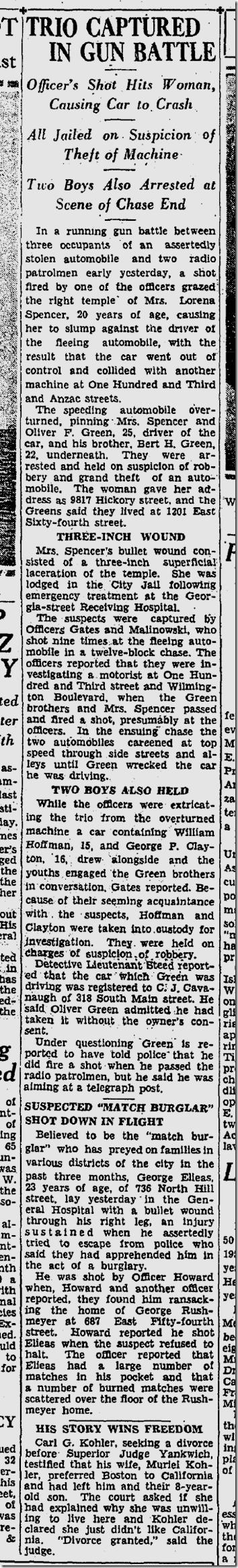 Sept. 25, 1933, Police Involved Shooting