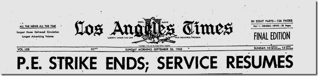 Sept. 26, 1943, Streetcar Strike Ends