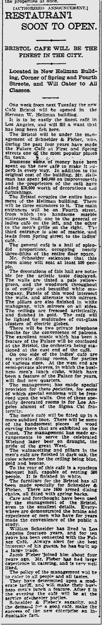 Dec. 12, 1904, Cafe Bristol